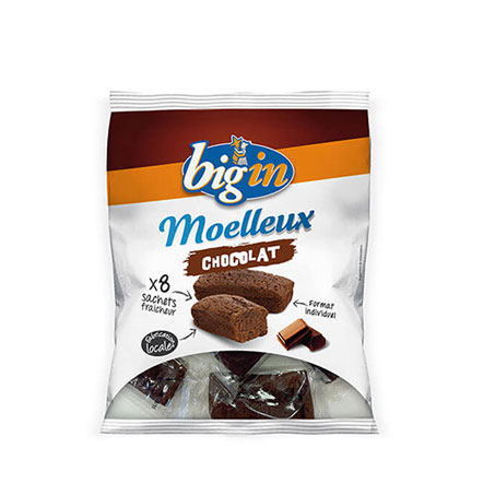 Brioche Big'in - Moelleux au chocolat 8 Portions individuelles
